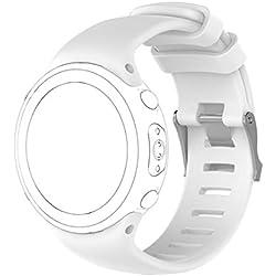 voberry Bracelet, Bracelet en Silicone cagel de rechange soft pour Suunto D4/d4i Novo Watch