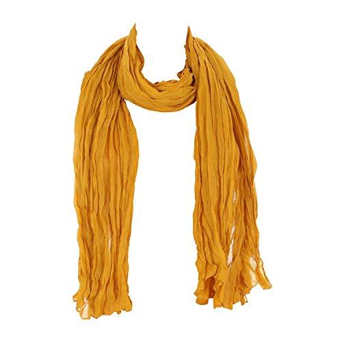 Leichter Damen Schal Nr. 374 viele Farben Hellbraun
