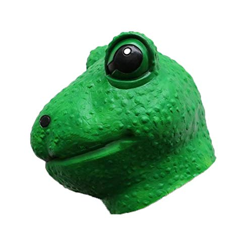 Halloween Kostüm Ball Sad Frog Expression Mask Aprilscherz Parodie Party Performance Requisiten ()