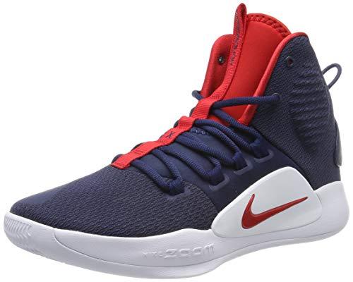 Nike Herren Hyperdunk X Basketballschuhe, Mehrfarbig (Midnight Navy/University Red/White 400), 42 EU
