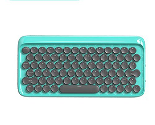 IWTGR Dot Bluetooth mechanische Tastatur, Kabelloses Retro Geeignet für Mobiltelefone, IPads, Tablets, MAC