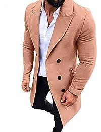 Hucode Cappotto di Cotone A Maniche Lunghe Giacca Invernale in Velluto da  Uomo Caldo Plus 76284d47505