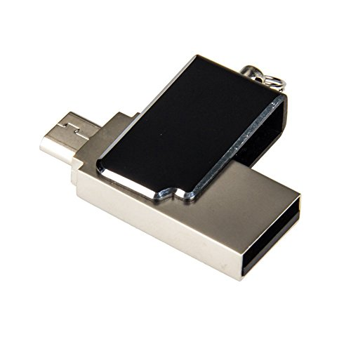 Clé USB 16Go Micro USB 2.0 (OTG) Stockage Mémoire Flash Drive Design Pliable pour Smartphone Android et tablette
