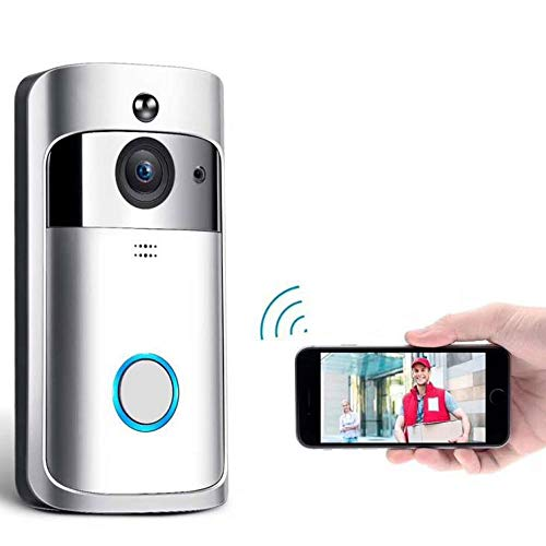Alarm-monitoring (LMtt Video Doorbell, Smart Doorbell HD WiFi Security Camera mit Memory Storage, Real-Time Two-Way Talk und Video, Remote Alarm Low Power Monitoring)