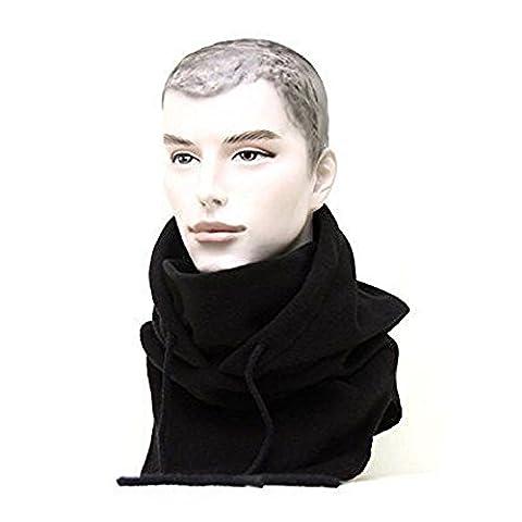 Tangmi® Masque Passe-montagne écharpe en polaire unisexe noir