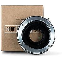 Gobe - Adaptador de lentes Contax/Yashica (C/Y) para cuerpo de cámara Nikon de montura F (con cristal óptico)