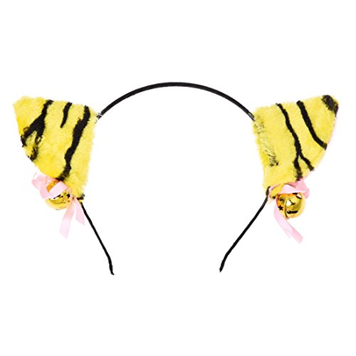 - SODIAL(R) 5 x Katze Ohren Haarreif Haarband mit Bell Cosplay Halloween Party Kostuem (Leopard Halloween-kostüm-muster)
