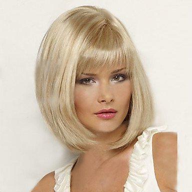 HJL-cheveux courts Bob perruques femmes blanches europ¨¦ennes femmes noires synth¨¦tiques Perruques courtes naturelles , blonde