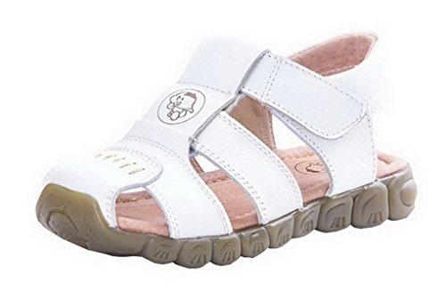 Evedaily Baby Jungen Sandalen Lauflernschuhe rutschfest Lederschuhe Sommer Schuhe 9907-2017 Weiß