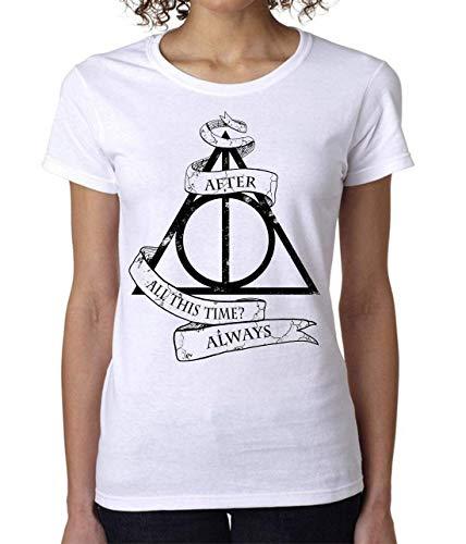 Deathly Hollows from Harry Potter After All This Time Always Women's T-Shirt Damen Short Sleeve Top Medium - Alles Short Sleeve T-shirt