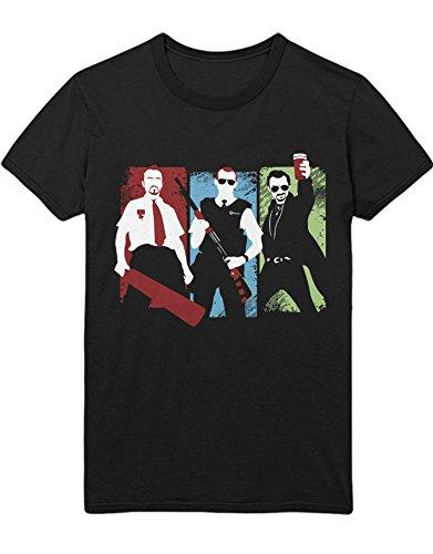 T-Shirt Blood and Ice Cream Trilogy Simon PEGG C000027 Schwarz XL - Hot Fuzz-t-shirt