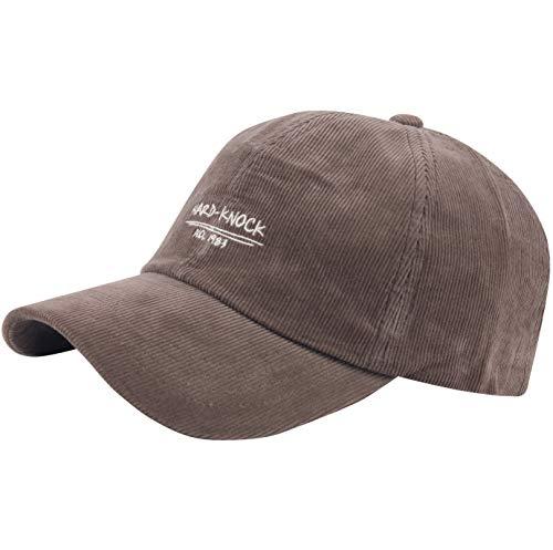 RaOn B450 klopfen hart täglich Mode Base Ball Hut Fahr für Herren 6 7/8~3/8 7 (55cm ~ 59cm) Dunkelbraun (Fahr-hüte Für Männer)
