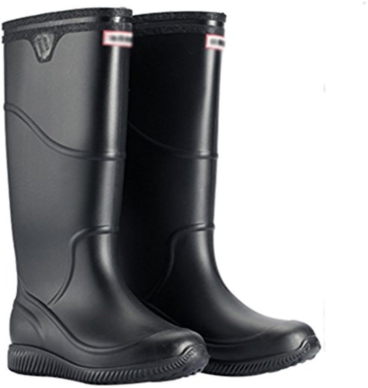 Rain Boots Regenstiefel der Männer  Schlauchhochwasserschuhe der Männer Regenstiefel  Wasserdichte Schuhe Einfarbiges