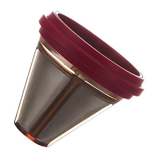 F Fityle Kaffee Filter, Edelstahl Filter, Metall Hand Filter - rot