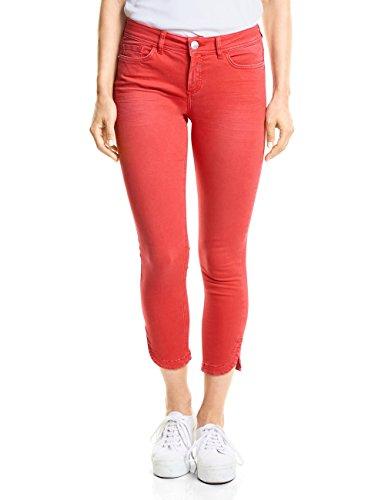 Street One Damen Slim Jeans 371453 York, Rot (Hibiscus Red Washed 11446), W29/L26 (Herstellergröße: 29)