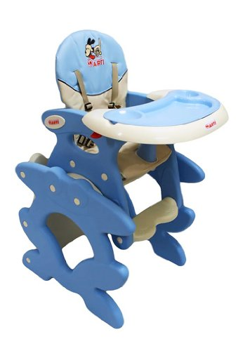 Chaise haute de bébé pour enfants ARTI Betty J-D008 Hund Doggy Blue Coffe Chaise haute Set - chaise et une table