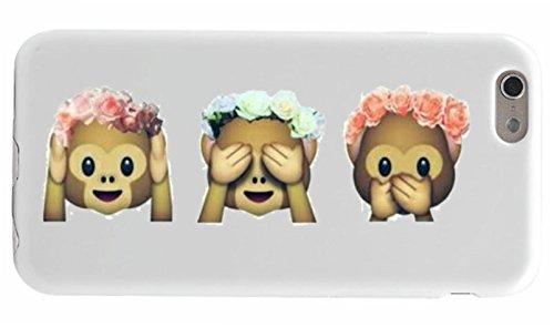 """Preisvergleich Produktbild Smartphone Case Huawei P8/ P8 Lite """"Nichts Böses Hören Sehen Sagen Affen Rosen Blumen"""", der wohl schönste Smartphone Schutz aller Zeiten."""