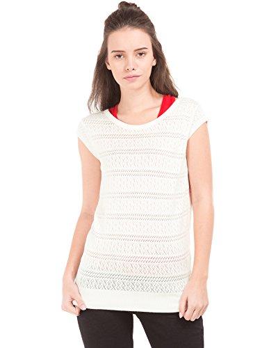 US POLO Women's Cotton Sweatshirt (UWFL0124_Snowhite_Small)