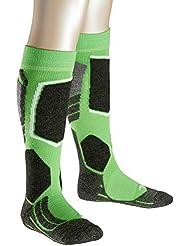 FALKE calcetín de esquí infantil SK 2 Kids, otoño/invierno, infantil, color Verde - verde, tamaño 35-38