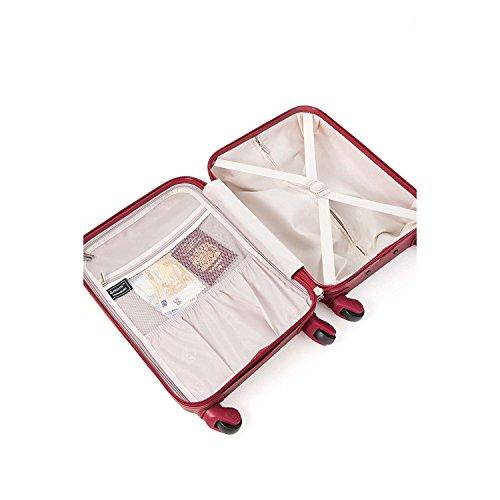 Aerolite Leichtgewicht ABS Hartschale 4 Rollen Handgepäck Trolley Koffer Bordgepäck Kabinentrolley Reisekoffer Gepäck, Genehmigt für Ryanair, easyJet, Lufthansa, Jet2 und viele Mehr, Weinrot - 3