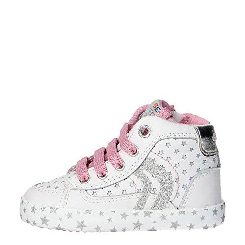 Geox B62D5E Zapatillas De Deporte Chica Cuero Blanco