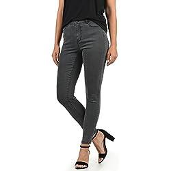 Vero Moda Jenna Jeans Denim Vaquero Tejano para Mujer Elastico Mid- Rise Skinny- Fit, tamaño:XS/ L32, Color:Grey