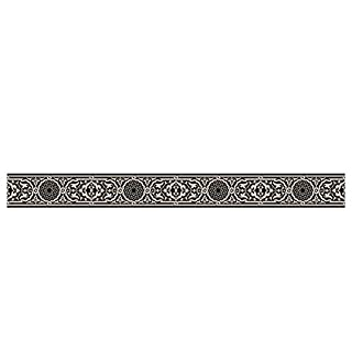 Cuadros Lifestyle Selbstklebende Bordüre mit tollen Motiven und Ornamenten für Wände, Schränke, Türen   Tapetenbordüre   Wandaufkleber   seidenmatt, Größe:ca. 145x14cm