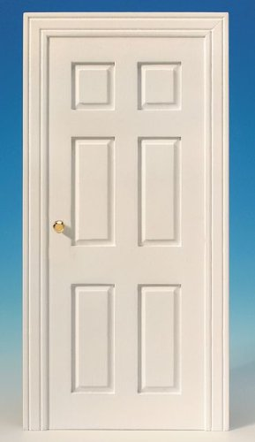 MiniMundus - Porta finta per la casa delle bambole, colore: Bianco