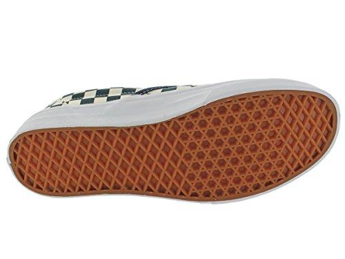 Vans Vkyk7Sx, Baskets mode mixte adulte bleu beige à carreaux