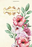 Notebook: Floral 6x9 Pink lined paper