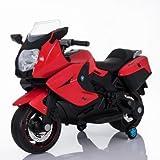 #8: GetBest Ninja Sports Kids 12V Battery Operated Ride on Bike, Red,