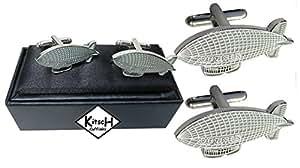 Zeppelin Cufflinks based on the Graf Zeppelin Design