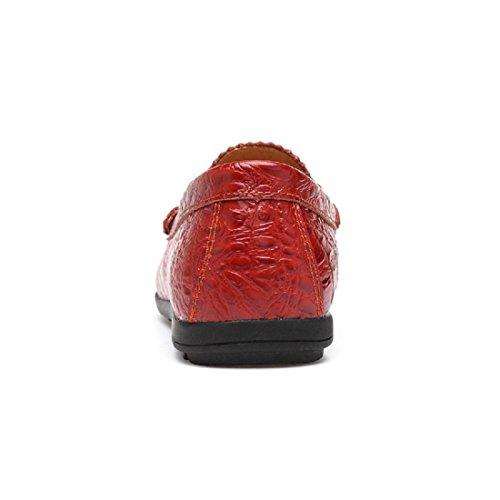Uomo traspirante Scarpe casual Casa Formazione Ballerine Leggero Confortevole Scarpe di cotone Elasticità Fondo morbido Piede di protezione 37-46 rosso
