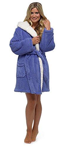 Foxbury Damen Morgenmantel Blau