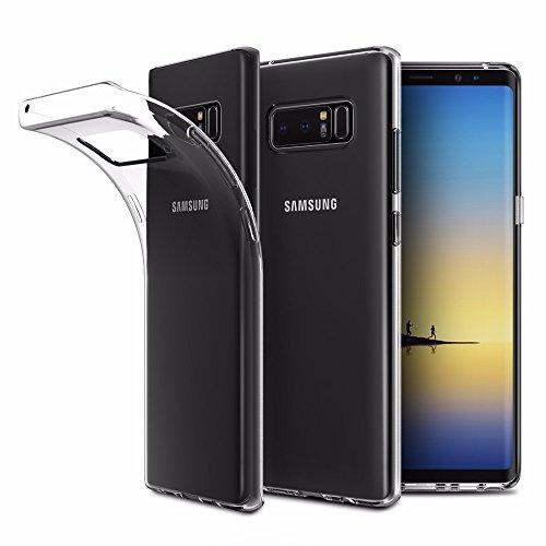 EasyAcc Hülle Case für Samsung Galaxy Note 8, Dünn Crystal Clear Transparent Weich Handyhülle Cover Soft Premium-TPU Durchsichtige Schutzhülle Kompatibel mit Samsung Galaxy Note 8