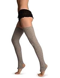 Grey Stirrup Dance/Ballet Leg Warmers - Leg Warmers - Gris Calentadores moda Talla unica (90 cm)