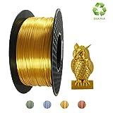 KEHUASHINA Filament de PLA d'imprimante 3D, 1.75mm, matériel d'impression 3D, filament de bobine de 2.2 LBS (1KG) pour des imprimeurs 3D, PLA de SILK d'or