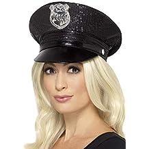 SMIFFYS Smiffy s Cappello Polizia con Paillette 8d3e85512a10