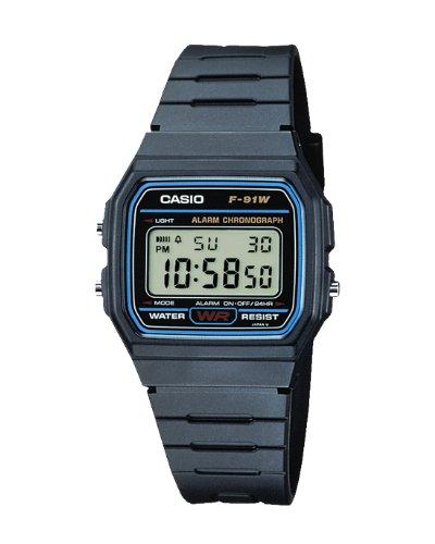 CASIO unisex Watches/Uhren F-91W-1YEF