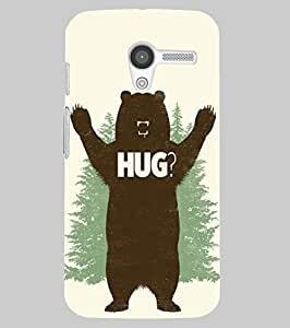 Back Cover for Moto X (1st Gen) bear hug
