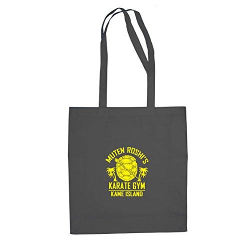 DBZ: Karate Gym Kame Island - Stofftasche/Beutel, Farbe: grau