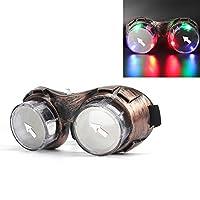 Led-Brille-DAXIN-Leuchtbrille-Partybrille-Steampunk-Brille-fr-Masquerade-Party-Nacht-Pub-Bar-Klub-Rave-Bronze