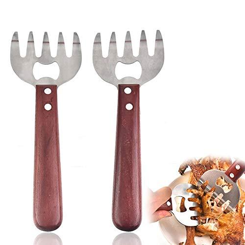 JGF Edelstahl zog Schweineklauen, Grillteile, leicht gehacktes Fleisch (2 Stück) (Red)