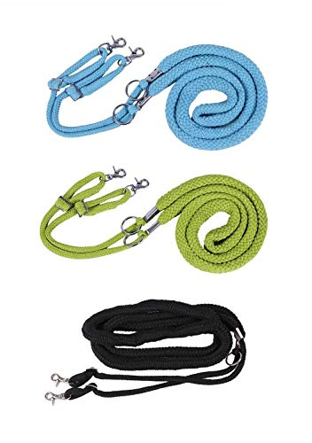 NETPROSHOP Longiersystem Longierhilfe aus Baumwolle farbig, Farbe:Schwarz, Groesse:L