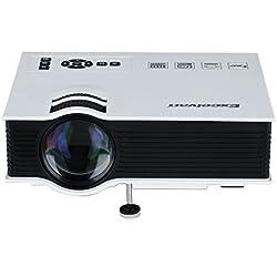 Excelvan UC40 Portable 86,36 cm - Mini LED proyector 130-pulgada 800 Lumens Multimedia Home Cinema Theater 800 * 480RGB USB/AV/SD/HDMI 3,5 mm Salida de Audio 5 V mAh - blanco