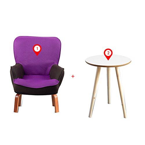 DEO Bureau d'ordinateur chaise pour enfants Enfants Kids Sofa Set Fauteuil Fauteuil avec repose-pieds durable (Couleur : D, taille : Chair and table)