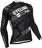 FDX Mens Pro Cycling Jersey Full Sleeve Racing Top Cold Wear Thermal Biking Jacket