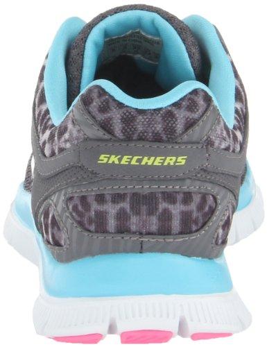 Skechers Flex Appeal - Serengeti, Chaussures de sport femme Gris - Grau (CCLB)