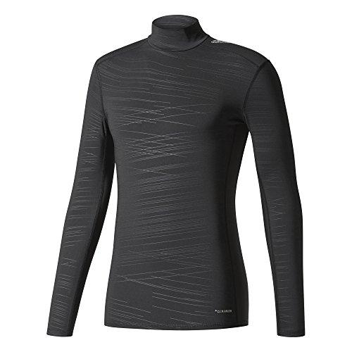adidas Herren Techfit Long Sleeve Climawarm Mock T-Shirt Black/Print XL