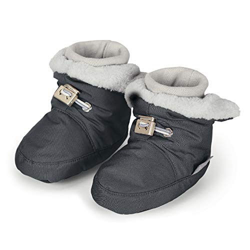 Sterntaler Jungen Baby Stiefel mit Klettverschluss, Farbe: Eisengrau, Größe: 21/22, Alter: 18-24 Monate, Artikel-Nr.: 5101521